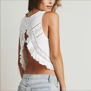Free People Split Back Sleeveless Top